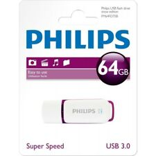 Philips Snow Edition USB Stick, 64 GB, USB 3.0, Weiß