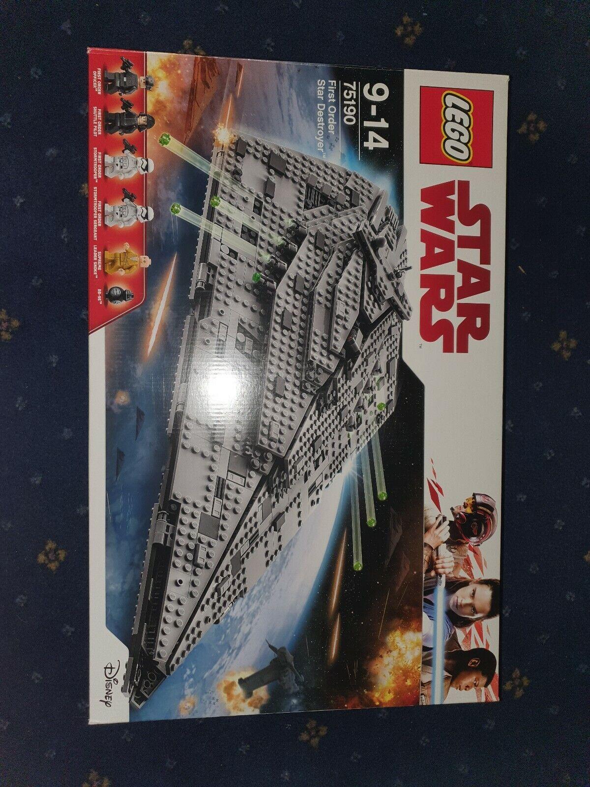 LEGO Star Wars First Order Star Destroyer 2017 NEW SEALED 75190