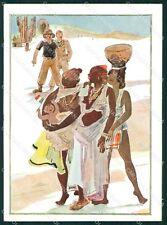 Militari Coloniali Africa Orientale Risque Nude Ethnic FG cartolina XF3077
