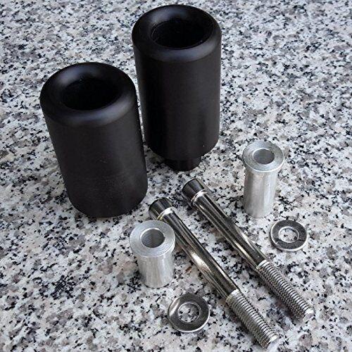 Black Delrin Frame Sliders Crash NO-CUT Version For Suzuki GSXR1000 K3 2003 2004