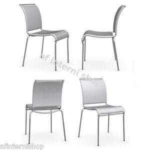 n 4 sedie cucina air calligaris net grigio ebay