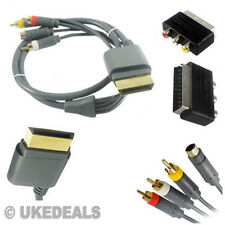 For Xbox 360 1.8M HDTV Audio Video AV Phono S-Video + Scart to RCA Adapter Cable