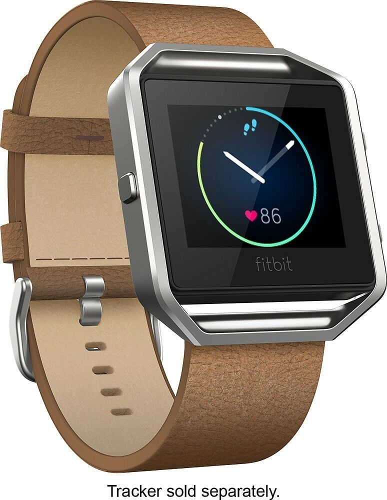 FITBIT Blaze Leather Accessory Band & Frame   Camel   SMALL