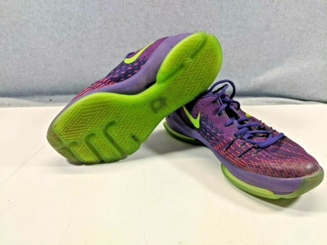 quality design 205c7 e3901 Youth Nike KD 8 Suit Basketball Shoes Purple & Green (Size 6Y) | FREE  SHIPPING!