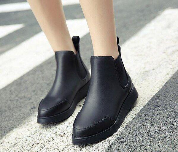 botas bajo zapatos botas militares 4 cm negro elegantes como piel 9422