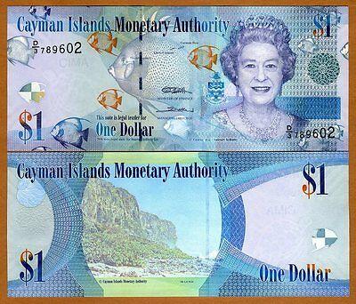 Cayman Islands, $1, 2010 (2011), Pick 38c QEII, D/3,  UNC