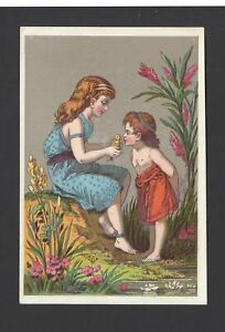 GREAT-AMERICAN-TEA-ADVERTISEMENT-CARDS-TWO-CHILDREN-AND-A-BIRD