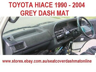 DASH MAT,DARK GREY DASHMAT, DASHBOARD COVER FIT TOYOTA HIACE 1991 - 2004,  GREY