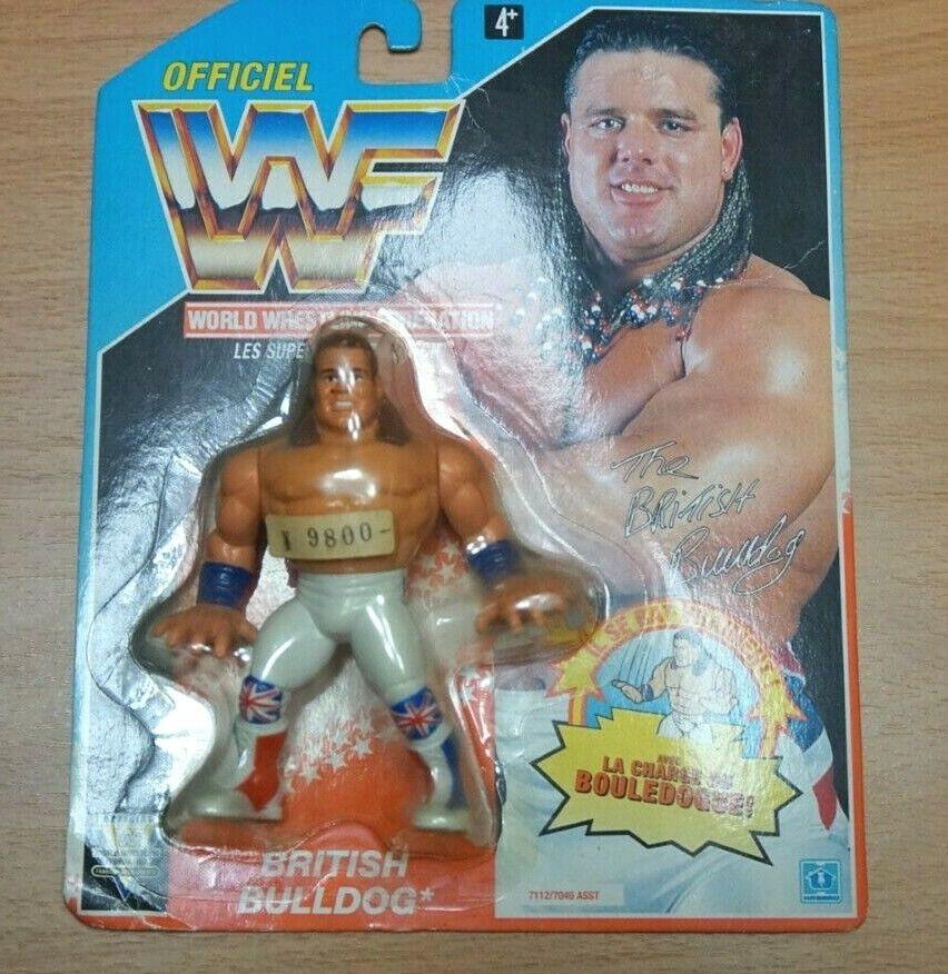WWF Hasbro British Bulldog MOC Series 4 English Card