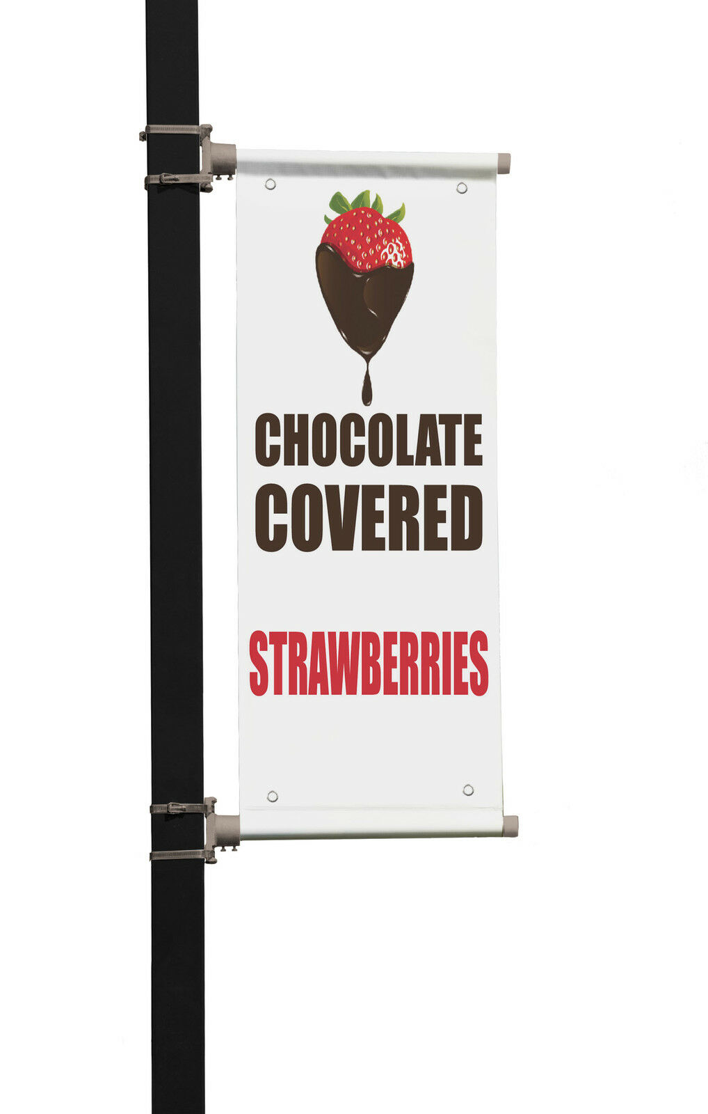 Tomatoes Food Fair Promotion Business Double Sided Vertical Pole Banner Sign