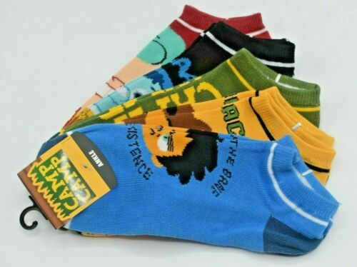 CAMP CAMP ROOSTER TEETH MIX /& MATCH 5 PAIRS ANKLE SOCKS SIZE 9-11 NWT