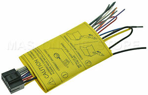 jvc kd sr80bt kdsr80bt genuine wire harness pay today ships today rh ebay com JVC KW 500 Wiring Schematic JVC Wiring Harness Diagram