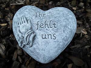 Für immer im Herzen Grabschmuck Herz Grab 2er Set Grabherz Wir denken an Dich