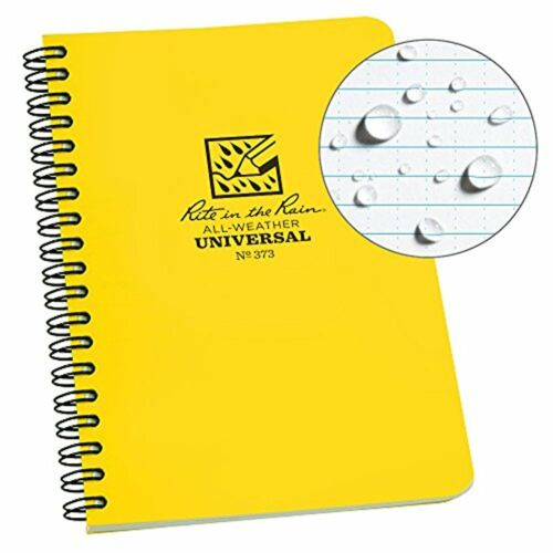 Rite in the Rain All-Weather Side-Spiral Notebook, 4 5/8 x 7, Yellow Cover