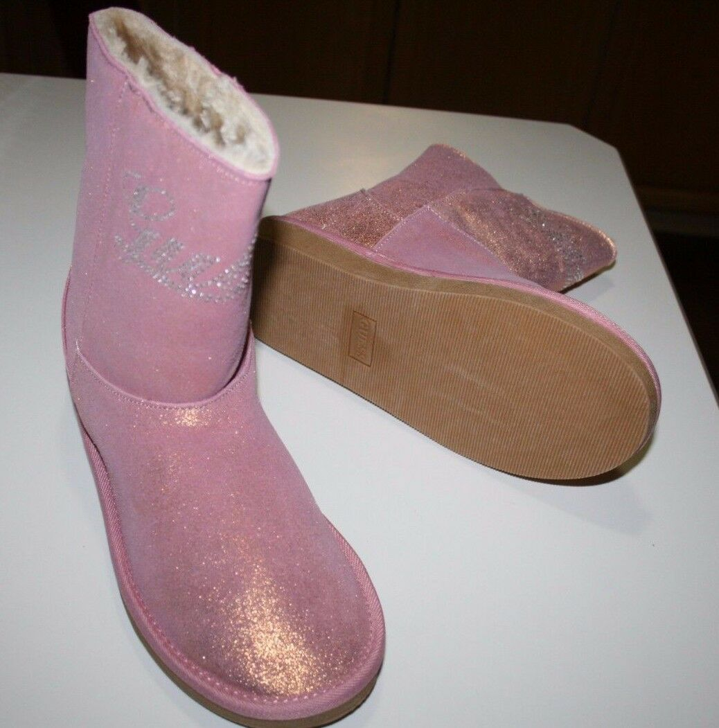 NEW NIB Guess Pink   pink Hanover Boots Junior Size 6 Faux Fur, Suede exterior
