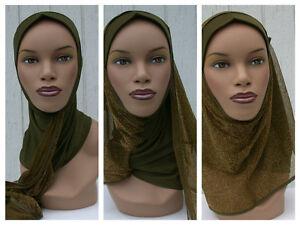 Kuwaiti-Hejab-Mona-Hijab-Abaya-Muslim-Islamic-Headcover-GREEN-Women-Head-Scarf