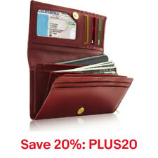 Genuine Leather Wallet Women-Accordion With ID Slot RFID Blocking,20% off:PLUS20