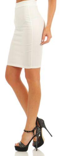 5724 Damen Rock Stretch-Rock Skirt Pencilskirt Minirock Bleistiftrock Knielang