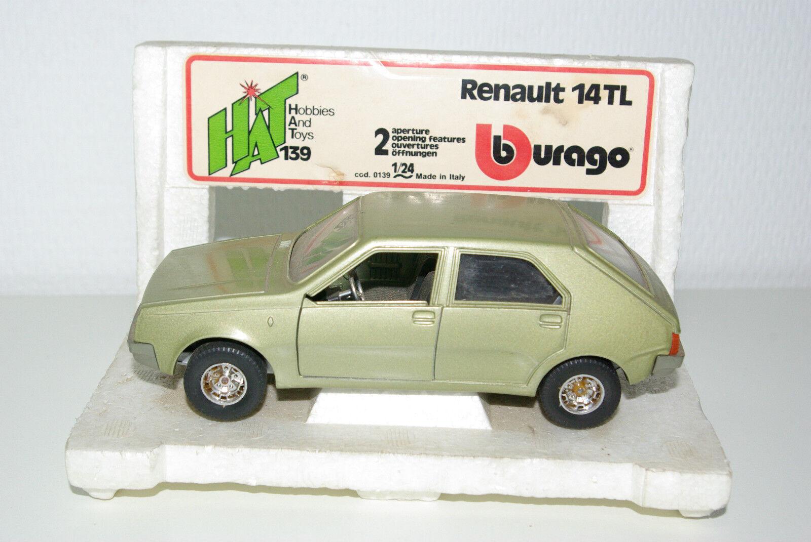 Bburago Burago 139 Renault 14 TL 14TL Metallic Light Green Near Mint Boxed