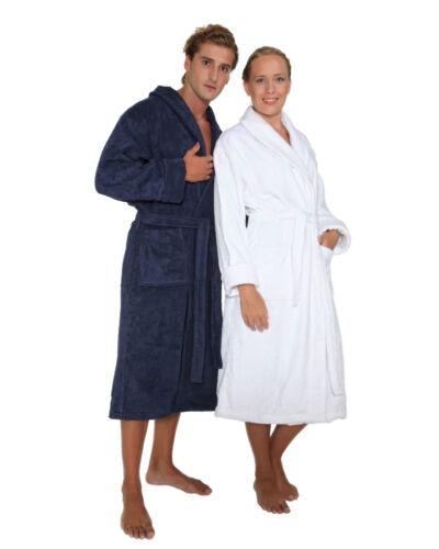 Bademantel BARON Damen Herren mit Schalkragen Baumwolle Frottee Morgenmantel