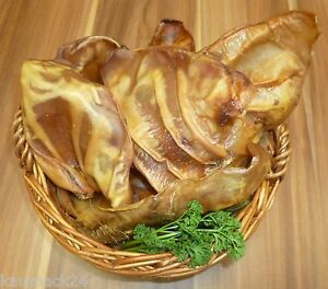 100 morceaux d'épis de cochon Nourriture pour chiens Produits à mâcher, tels qu'oreilles de bétail Ochsenziemer Barf