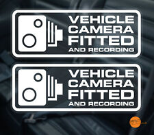 2 x fotocamera veicolo MONTATO Finestra Decalcomania 145x56mm / Dashcam autoadesivo. CAR CCTV