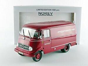 Norev-183416-Mercedes-Benz-L319-Porsche-1960-Rojo-Escala-1-18