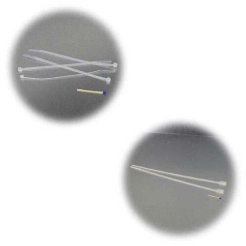 Kabel Binder weiß 2 Größen Kabelstrapse zur Auswahl 100 Kabelbinder lösbar