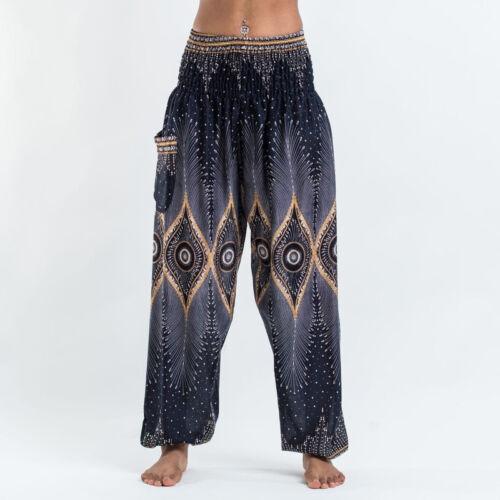 Damen Thailand Hippie Yoga Hose Boho Haremshose Pluderhose Pumphose Aladinhose