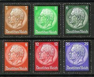 DR-Nazi-3rd-Reich-Rare-WW2-Stamp-Hindenburg-Medalion-Signature-BPP-Classic-Set