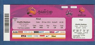 Orig.ticket Asienmeisterschaft Katar 2011 Finale Japan - Australien !! Top