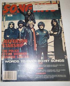 Song Hits Magazine Jefferson Starship & Stevie Wonder April 1980 071614R