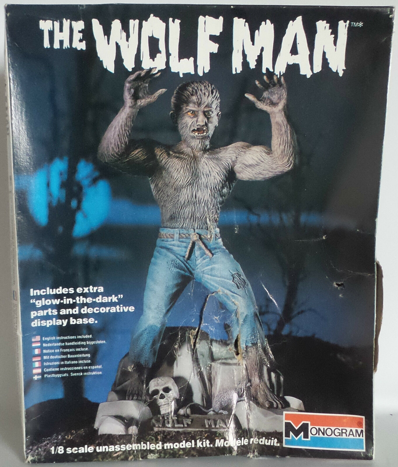 HORROR   1983 1 8 SCALE THE WOLF MAN GLOW IN THE DARK MONOGRAM MODEL KIT (MLFP)