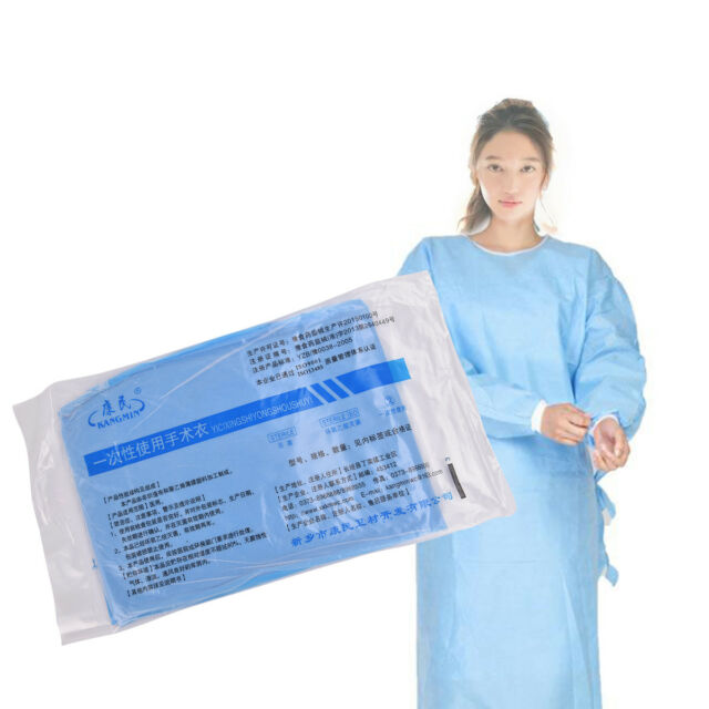 Disposable Medical Clean Laboratory Isolation Cover Gown Surgical ...