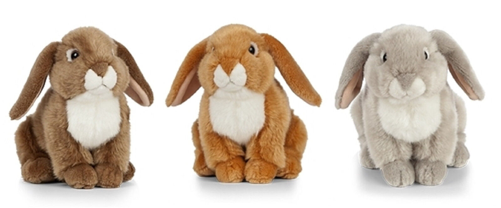 LIVING NATURE FRENCH LOP EARED RABBIT - AN472 SOFT FLUFFY BUNNY STUFFED PLUSH