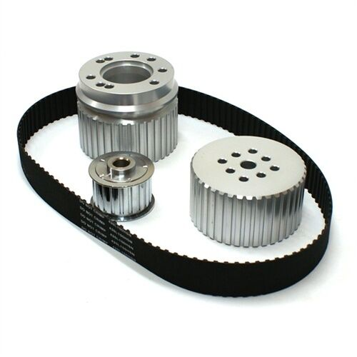 SMALL BLOCK CHEVY 283 305 327 350 400 GILMER BELT DRIVE PULLEY KIT SBC LWP