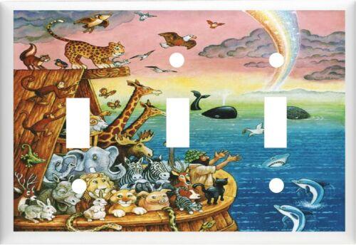 NOAH/'S ARK ANIMALS # 1 NURSERY DECOR  LIGHT SWITCH COVER PLATE