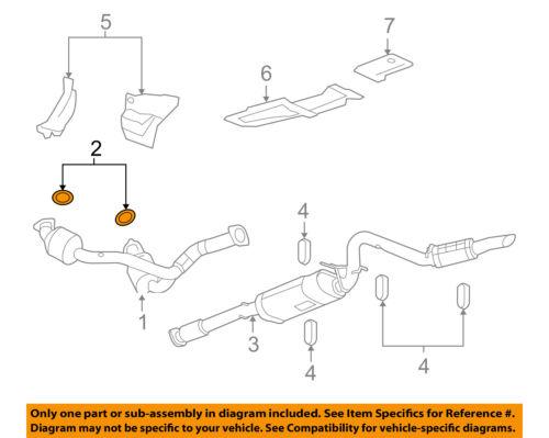 GM OEM Exhaust-Catalytic Converter /& Pipe Seal 15035747