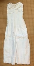 Strasburg Girl's White Dress Lined Smocked Size 14Y EUC Free Shipping Special!!!