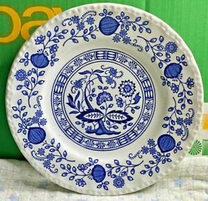 Enoch Wedgwood-Tunstall Blue Onion Heritage-Bread & Butter Side Plate-Vintage