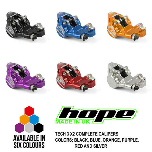 Hope Tech 3 X2 Brake Complete Calipers HBSPC44 - All colors - New