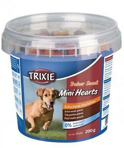 Amical Trixie Trainer Snack Mini Hearts 200 G Renforcement Des Nerfs Et Des Os