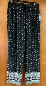 Details zu Vince Camuto Draw String Comfy Pant in Rich Black Size Small NWT Retail $99