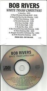 BOB RIVERS White Trash Christmas STICKERED CARD SLEEVE ADVNCE ...