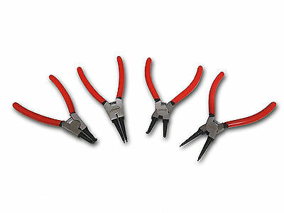 "4PC Circlip Pince à Circlip set 9/"" Long Reach externes et internes."