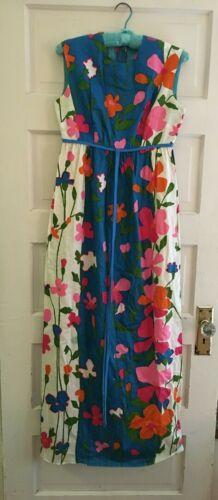 Vintage Stan Hicks Long Dress Size 4 Hawaiian Casu