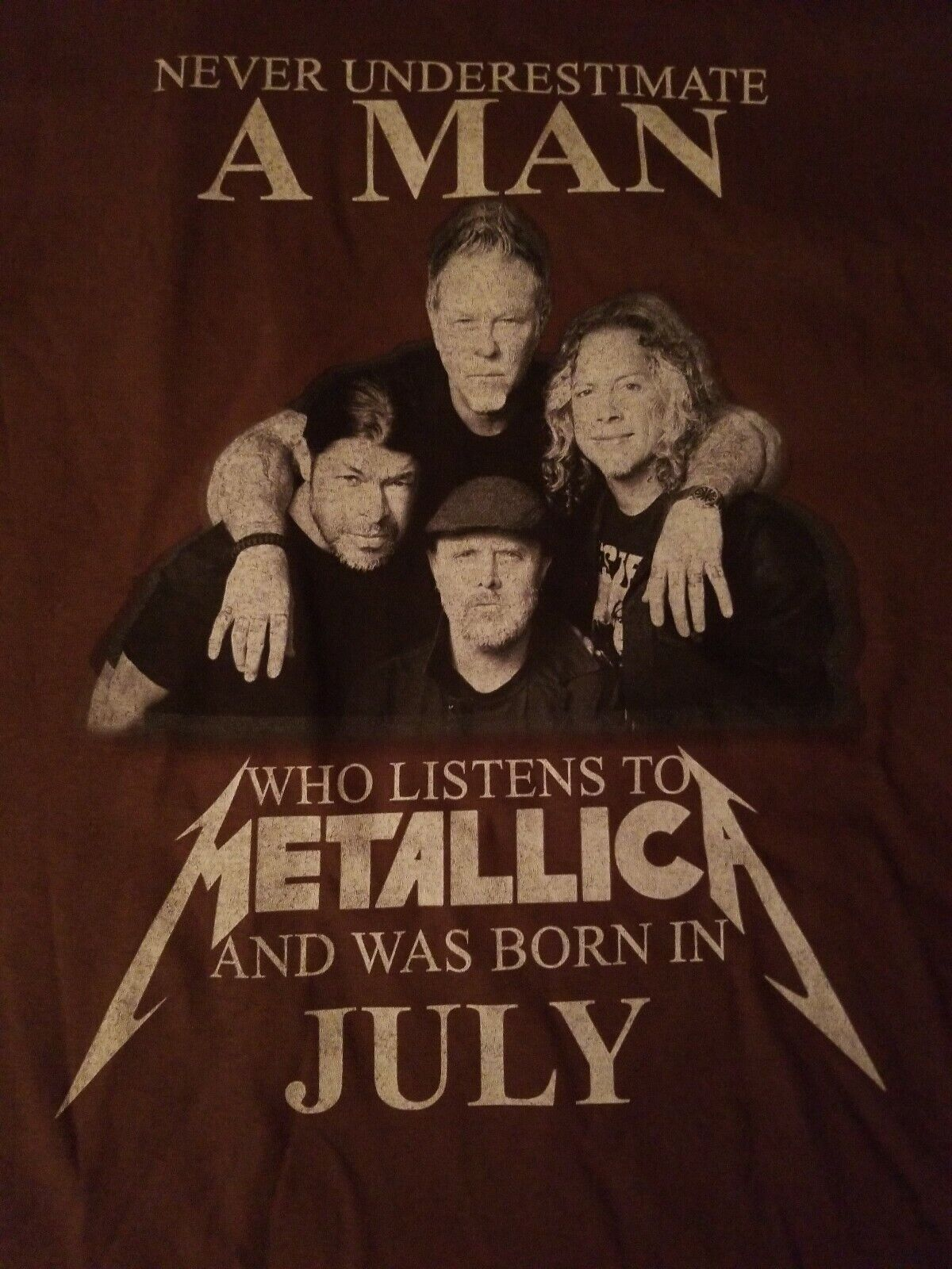 Never Underestimate MAN Who Listens to Metallica … - image 1