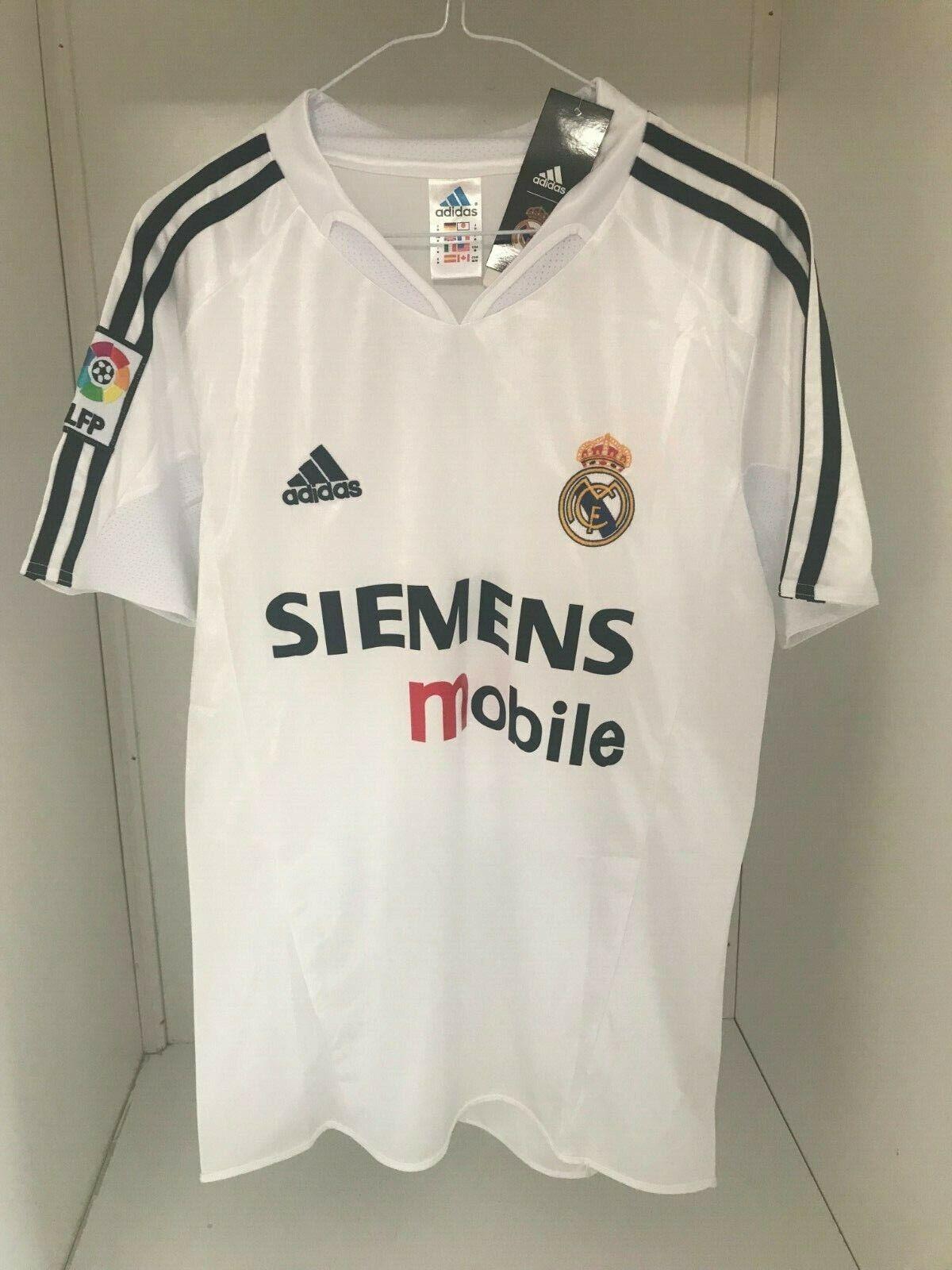 ADIDAS camiseta vintage-retro Real Madrid 2004-2005 ZIDANE NUEVA