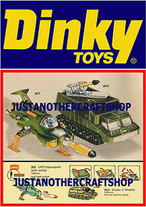 Dinky-Toys-351-353-Ufo-Interceptor-Shado-Gran-Tamano-Poster-Anuncio-folleto-Signo