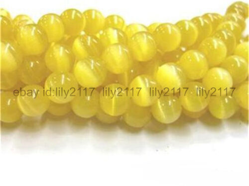 """Charm 8 mm Jaune MEXICAN Opal Gemstone Round Loose Beads 15/"""""""
